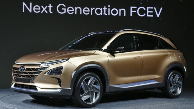 Hyundai Motor has offered an early glimpse of its next generation fuel cell vehicle on Aug. 17, 2017. (source: Hyundai Motor)