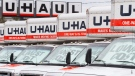 U-Haul rental in Kingston, Ont., on Wednesday, Feb. 3, 2016. (Lars Hagberg / The Canadian Press)