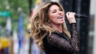 Shania Twain performs on NBC's Today show at Rockefeller Plaza in New York on June 16, 2017. Shania Twain has announced plans for a 2018 tour. The Canadian country-pop music superstar will first stop in Tacoma, WA., on May 3 and will perform through the rest of the summer. The tour ends Aug. 4 in Las Vegas. (THE CANADIAN PRESS/AP, Invision - Charles Sykes)