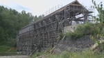 The demolition of one of New Brunswick's most iconic covered bridges is underway in French Village.