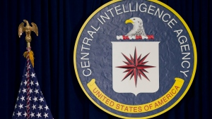 This April 13, 2016 file photo shows the seal of the Central Intelligence Agency at CIA headquarters in Langley, Va. (AP / Carolyn Kaster)