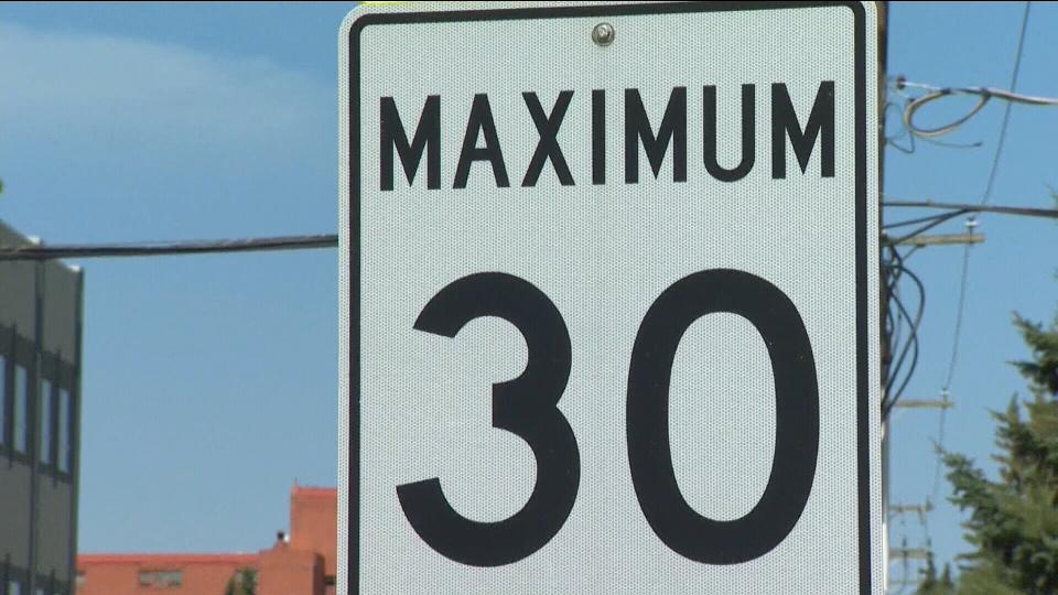 30 km/h speed limit sign