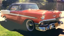 Colin Franklin's 1956 Chevy Bel Air is seen in this provided photo.