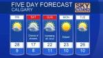 Calgary forecast August 17, 2017