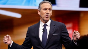 In this March 22, 2017, file photo, Starbucks chairman Howard Schultz speaks at the Starbucks annual shareholders meeting in Seattle. (AP Photo / Elaine Thompson, File)