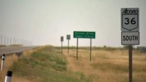 Highway 36 and Highway 570 near Hanna