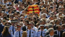 Moment of silence for Barcelona attack victims