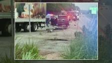 roundabout crash