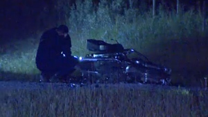 Two motorcyclists were killed when they were hit by a flatbed truck near Turner Valley on Thursday night.