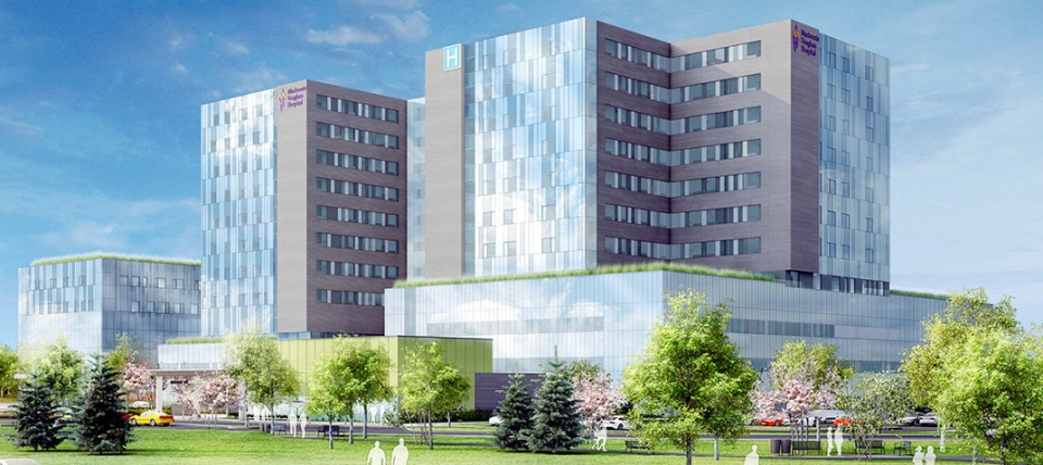 The Mackenzie Vaughan Hospital, which is slated to open in 2020, is seen in this artist's rendering. (Mackenzie Health)