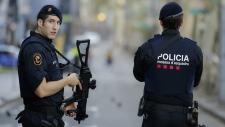 Police in Las Ramblas, Barcelona