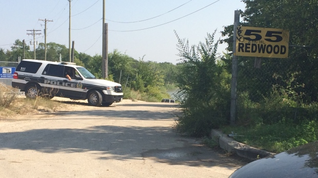 The Winnipeg Police Service water rescue and river patrol teams have been searching the area since Tuesday. (Source: Katherine Dow/CTV News)