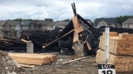 Fire destroyed two new buildings off of Lawson Road on Friday, August 18, 2017. (Jim Knight / CTV London)