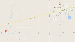 Coaldale RCMP are looking for a man who shot and killed a dog after he'd run over it with his car on Monday. (Google Maps)