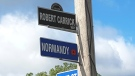 Normandy Street has been renamed Robert Carrick Way for one week in LaSalle, Ont. (Courtesy Town of LaSalle)