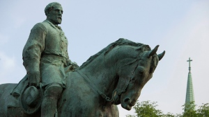 The statue of Confederate Army of Northern Virginia Gen. Robert E. Lee stands in Emancipation Park in Charlottesville, Va., Friday, Aug. 18, 2017. (AP Photo / Cliff Owen)