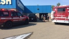 Emergency crews were called Friday, August 18 to the Lazer Wash in Red Deer, after flammable liquid exploded and seriously injured three people.
