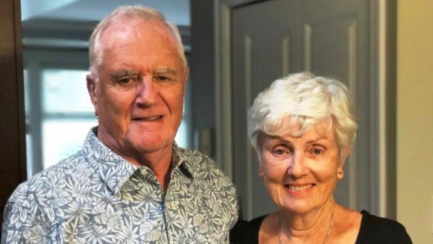 Ian Moore Wilson, left, has been identified as the Canadian killed in the Barcelona attack. He is pictured here with his partner Valerie. (Family handout)