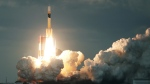 File photo: A satellite-carrying H-IIA rocket is launched from Tanegashima in January 2017. (© Jiji Press / AFP)