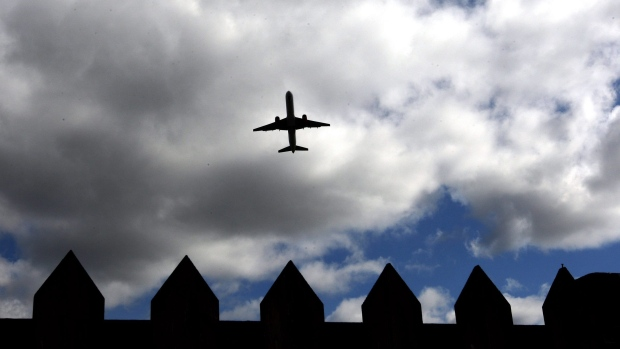 A Jet2.com Boeing 757 take off from Newcastle International Airport, England, Tuesday, April 20, 2010. (Scott Heppell/AP Photo)
