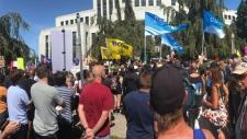 Counter protestors