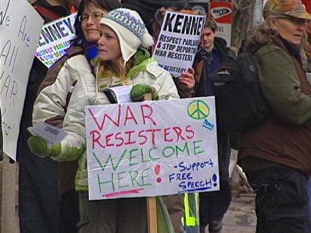 Protestors gather in Calgary