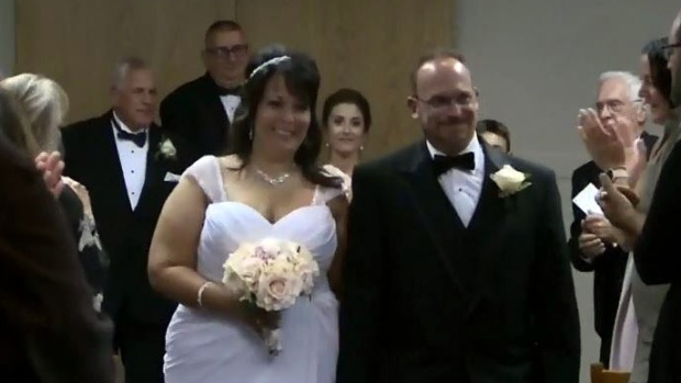 Stephen Desroches and his wife Christine
