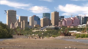 The LRT Valley Line construction project created a beach by the river in the Cloverdale area, and visitors are in favour of keeping it.