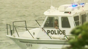 OPP say this happened when a boat involved in the race became airborne, ejecting the operator from the vessel.