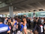 Passengers were evacuated around 4:30 p.m. Saturday as a precaution. (Source: Kara Deringer)