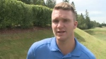 NHL player and former Saint John Sea Dog, Jonathan Huberdeau was at a charity golf tournament for the Sea Dogs Foundation, Friday, Aug. 18, 2017.
