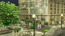 An artist's rendering of the Queen Street redesign plan in downtown Kitchener. (Aug. 20, 2017)