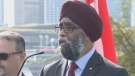 """This contract here doesn't impact our public service employees at all. This contract is actually a hybrid process here. We need the public service and we need the military,"" said Minister Harjit Sajjin. This is about creating a better efficiency."""