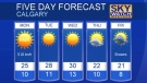 Calgary forecast August 20, 2017