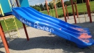 Anti-Semitic and race-related graffiti is pictured on playground equipment at William Armstrong PS in Markham Sunday August 20 ,2017. (Submitted)