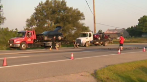 A head-on crash closed a portion of highway 6 for a couple of hours Monday morning.