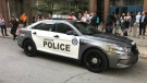 Toronto police have unveiled the new design of frontline police cruisers. (Keith Hanley/ CP24)