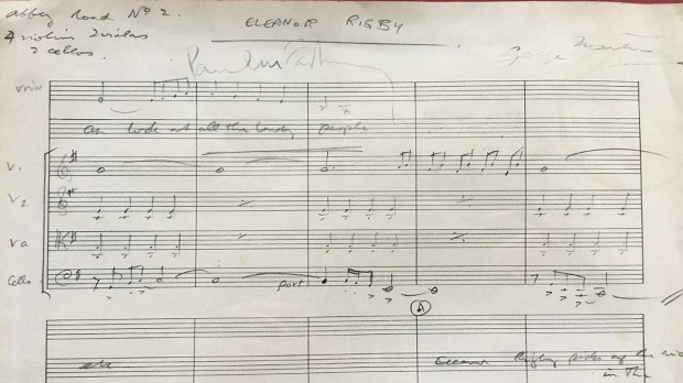 Eleanor Rigby's Grave Plot, George Martin Handwritten Score