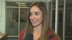 Canadian figure skating champion Kaitlyn Osmond speaks to CTV News in Regina on Monday, Aug. 21, 2017.