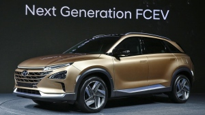 The close-to-production-ready Hyundai model showed off its impressive capabilities as well as its futuristic design (Courtesy of Huyndai)
