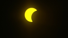 Solar eclipse as seen from Toronto