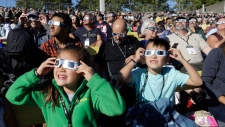 Solar eclipse gazers