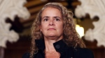 Former astronaut, and Governor General designate Julie Payette looks on as she is introduced by Prime Minister Justin Trudeau as the next Governor General of Canada, on Parliament Hill, in Ottawa, Thursday July 13, 2017. (Fred Chartrand / THE CANADIAN PRESS)