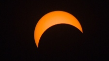 Partial solar eclipse in Edmonton