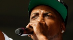 FILE- In this May 4, 2012, file photo, Mystikal performs at the New Orleans Jazz and Heritage Festival in New Orleans. Mystikal, whose real name is Michael Lawrence Tyler, surrendered to authorities on Monday, Aug. 21, 2017. (AP Photo/Gerald Herbert)