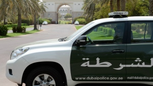 A Dubai police cruiser is seen in this undated image. (AP)