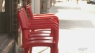 Multiple stores along St. Laurent Blvd., including La Veille Europe, have been fined for setting up chairs on the sidewalk.