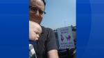 Justin Simard tweeted this photo to Sobeys, prodding the company about its mothers-only parking spot. (JustinSimard/Twitter)