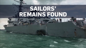 Some remains of missing U.S. sailors found in ship