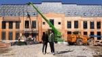 Drake and architect Ferris Rafauli stand outside the rapper's under-construction digs on Toronto's Bridle Path back in May. (Instagram/Ferris Rafuli/@ferrisrafuli)